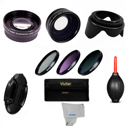 3 Lens, Filter Kit, Gifts Canon Eos Digital Rebel XS XT T3 T3i T4I for 18-55 HD