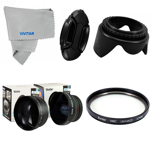 58MM Fisheye, Telephoto, Macro, UV Filter, Hood, Cap for Canon EOS Rebel T3 T3I