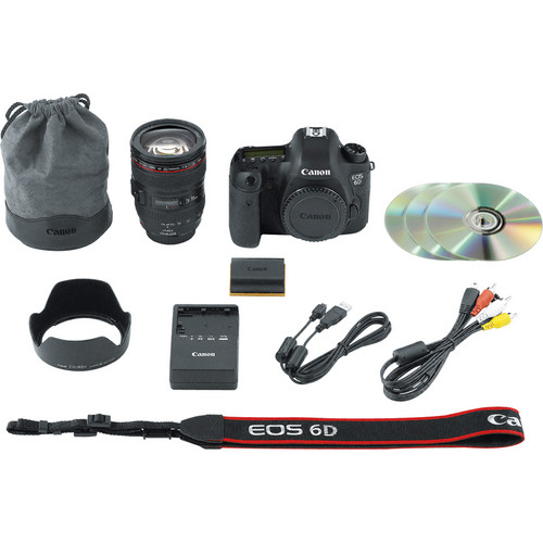 Canon EOS 6D WG DSLR Camera with 24-105mm f4L Lens View 4