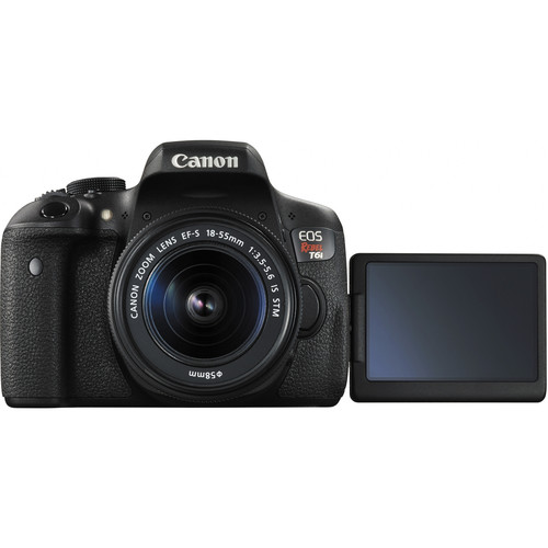 Canon EOS Rebel T6i DSLR Camera with 18-55mm Lens View 2
