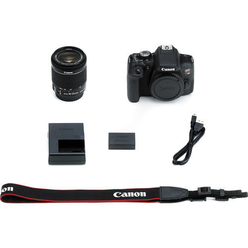 Canon EOS Rebel T6i DSLR Camera with 18-55mm Lens View 4