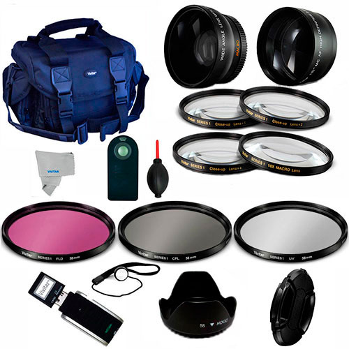 COMPLETE Accessory Kit for NIKON D90 D60 D5100 D5200 D5300 Digital SLR Camera